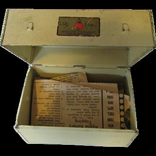 Polly Prim Recipe Box 1940s Recipe Cabinet USA Patent 1729126