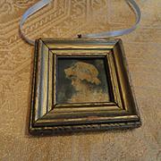 Charming Vintage Pair of Miniature Portraits