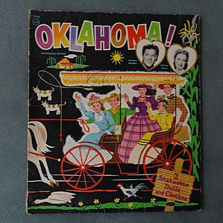 Oklahoma 1954 Cut Paper Dolls featuring Shirley Jones and Gordan McCrea