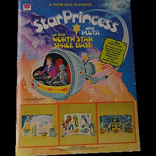 Star Princess & Pluta at Their North Star Base Paper Doll 1979 Uncut