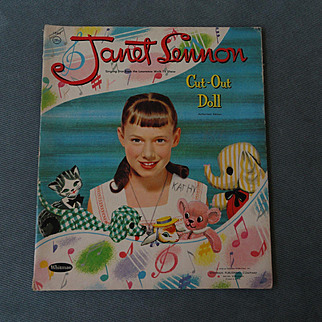 Janet Lennon 1958 Paper Doll Set by Whitman -shipping included