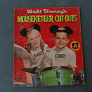 Walt Disney's Mouseketeer Paper Dolls 1957 - shipping included