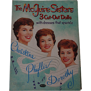 The Maguire Sisters Paper Dolls with dresses that sparkle 1959 - shipping included