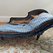 1800's Chaise with original finish - shipping included