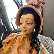 Beautiful Lenci Violetta Boudior Doll circa 1927