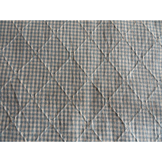 Vintage Checked Fabric with Woven Pattern