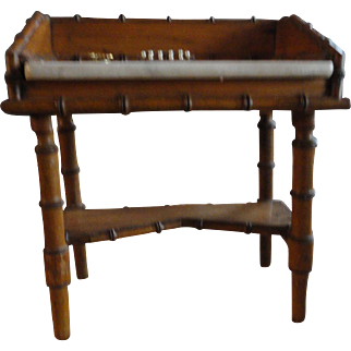 Late 1800's French Bamboo-Style Dressing Table