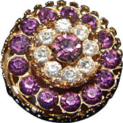 CORO Amethyst Colored Brooch