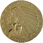 Rare 1910 GOLD $5 Indian Head GOLD Coin-HALF EAGLE---Philadelphia Mint
