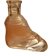 Antique Crystal Bootee Bottle, C.1880