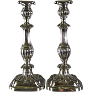 Gorham Sterling Silver Candlesticks c.1913 Georgian Style Antique