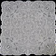 Vintage Appenzell Embroidery Handkerchief c.1920 Bride Wedding