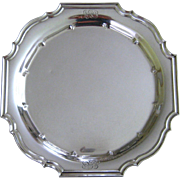 "Sterling Silver Serving Tray c1910 Gorham Antique 16"" Round Square Platter"