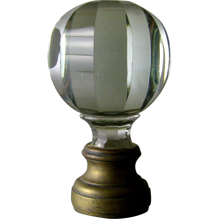 Cut Glass Newel Post Finial 19thC Bronze Mounts : Stone House Antiques |  Ruby Lane