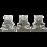 3 Column Form Steuben Candlesticks c.1930-50 Vintage Frederic Carder