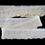 5.5 yds Point de Gaze Lace Trim Handmade Antique Edging Doll Clothing Bride