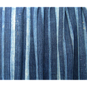 West African Indigo Stripe Handwoven Cloth Vintage Mali Textile B