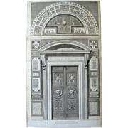 Doorway to the Raphael Loggia Vatican c.1772-77 aft Camporesi Savorelli Antique Engraving