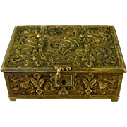 Erhard & Sohne Bronze Table Box c1900 Antique German Art Nouveau Casket Jugendstil