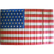 45 Star American Flag 1896-1908 Large Antique Parade Flag
