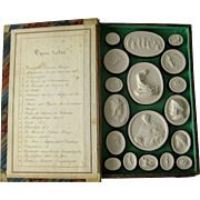 Grand Tour Plaster Intaglios c.1830 Liberotti Impronte Antique Collection Musei I Souvenir Cameo Medallions