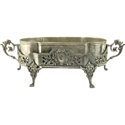 French Silver Plate Jardiniere / Liner c.1900 Antique Silverplate Planter Centerpiece Bowl