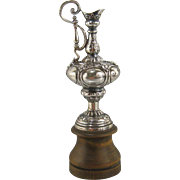 Miniature Sterling Silver America's Cup Trophy c.1903 Antique Yacht Sailing Souvenir 'Auld Mug'