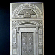Doorway to the Raphael Loggia at the Vatican c.1772-77 after Camporesi Savorelli Antique Engraving