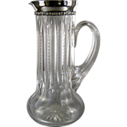 Antique Sterling Silver Cut Glass Pitcher c.1898 Gorham