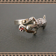 One-Of-A-Kind Ring Sterling Silver Gold Garnet