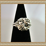 Art Deco style Sterling Silver Flowers One-Of-A-Kind
