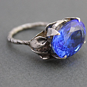 Ring Sterling Silver Tanzanite Quartz