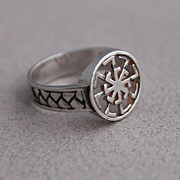 Sterling Silver Ring Rune symbol of the god Indra