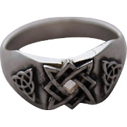 Sterling Silver Men  Ring  runes of luck