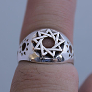 Men Ring Rune Sterling Silver