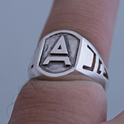 Men Masonic Ring Sterling Silver