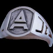 Men Masonic Ring Sterling Silver