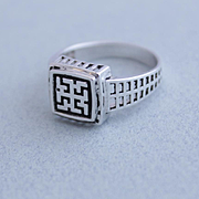 Mens Ring Sterling Silver