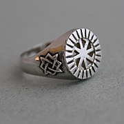 Ring Mens  Sterling Silver Runes