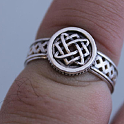 Mens Ring Sterling Silver Runes