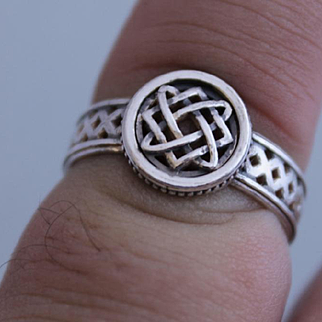 Mens Ring Sterling Silver Runes
