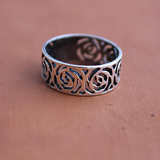 Ring Sterling Silver Rose