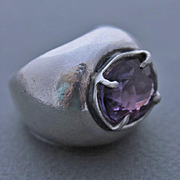 Ring Sterling Silver   Amethyst
