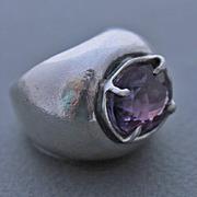 Ring Sterling Silver   Amethyst
