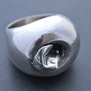 Ring Apple Sterling Silver  Size 9