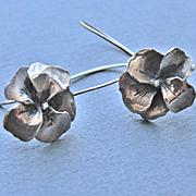 Earrings  Oxidized Sterling Silver