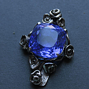 Sterling Silver Cross Tanzanite Quartz