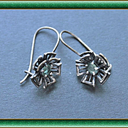 Earrings  Oxidized Sterling Silver  Natural  Alexandrite   free shipping