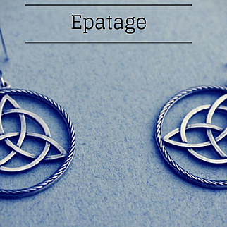 Earrings  Oxidized Sterling Silver  free shipping