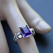 Ring Sterling Silver   Color Purple Ametrine
